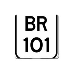 Brazil BR-101 Transcoastal Highway  Square Magnet