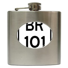 Brazil BR-101 Transcoastal Highway  Hip Flask (6 oz)