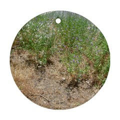 Wildflowers Round Ornament (Two Sides)