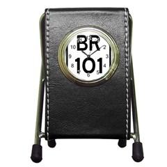 Brazil BR-101 Transcoastal Highway  Pen Holder Desk Clocks