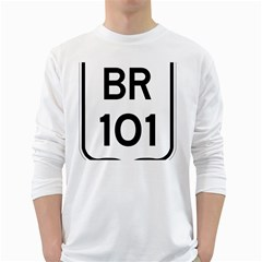 Brazil BR-101 Transcoastal Highway  White Long Sleeve T-Shirts