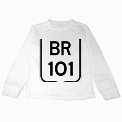 Brazil BR-101 Transcoastal Highway  Kids Long Sleeve T-Shirts