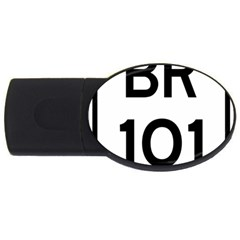 Brazil BR-101 Transcoastal Highway  USB Flash Drive Oval (4 GB)