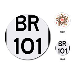 Brazil BR-101 Transcoastal Highway  Playing Cards (Round)