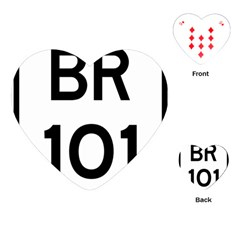 Brazil BR-101 Transcoastal Highway  Playing Cards (Heart)