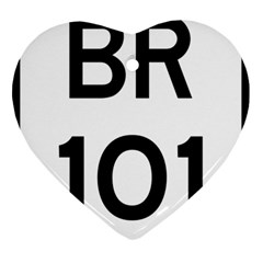 Brazil BR-101 Transcoastal Highway  Heart Ornament (Two Sides)