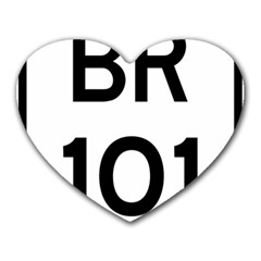 Brazil BR-101 Transcoastal Highway  Heart Mousepads