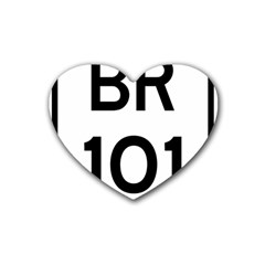 Brazil BR-101 Transcoastal Highway  Heart Coaster (4 pack)