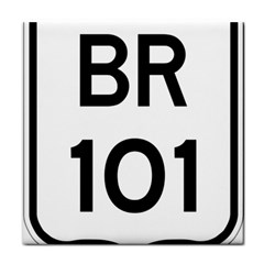 Brazil BR-101 Transcoastal Highway  Face Towel