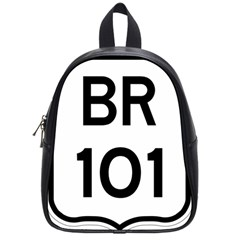 Brazil BR-101 Transcoastal Highway  School Bags (Small)
