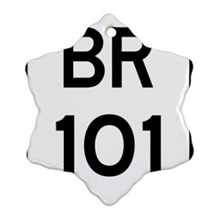 Brazil BR-101 Transcoastal Highway  Snowflake Ornament (Two Sides)