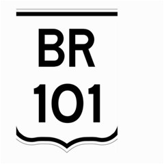 Brazil BR-101 Transcoastal Highway  Large Garden Flag (Two Sides)