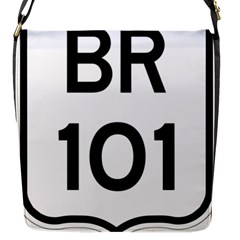 Brazil BR-101 Transcoastal Highway  Flap Messenger Bag (S)