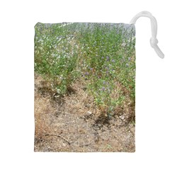Wildflowers Drawstring Pouches (Extra Large)