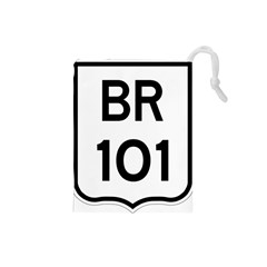 Brazil BR-101 Transcoastal Highway  Drawstring Pouches (Small)