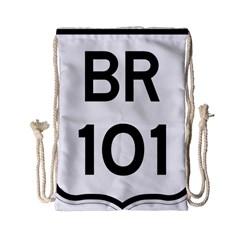 Brazil BR-101 Transcoastal Highway  Drawstring Bag (Small)