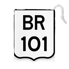 Brazil BR-101 Transcoastal Highway  Drawstring Pouches (Extra Large)