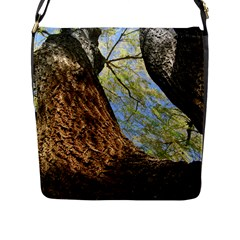 Willow Tree Reaching Skyward Flap Messenger Bag (L)