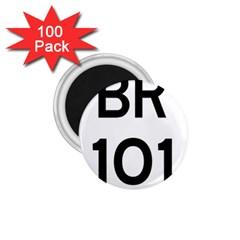 Brazil BR-101 Transcoastal Highway  1.75  Magnets (100 pack)