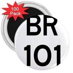Brazil BR-101 Transcoastal Highway  3  Magnets (100 pack)