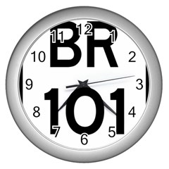 Brazil BR-101 Transcoastal Highway  Wall Clocks (Silver)