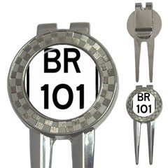 Brazil BR-101 Transcoastal Highway  3-in-1 Golf Divots