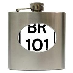Brazil BR-101 Transcoastal Highway  Hip Flask (6 oz)