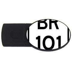 Brazil BR-101 Transcoastal Highway  USB Flash Drive Oval (2 GB)