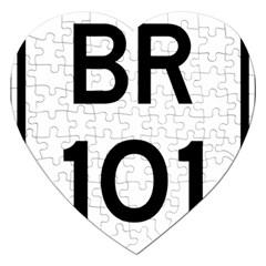 Brazil BR-101 Transcoastal Highway  Jigsaw Puzzle (Heart)