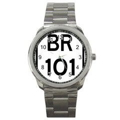 Brazil BR-101 Transcoastal Highway  Sport Metal Watch