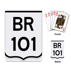 Brazil BR-101 Transcoastal Highway  Playing Card