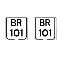 Brazil BR-101 Transcoastal Highway  Cufflinks (Square)