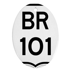 Brazil BR-101 Transcoastal Highway  Oval Ornament (Two Sides)