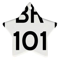 Brazil BR-101 Transcoastal Highway  Star Ornament (Two Sides)