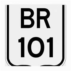 Brazil BR-101 Transcoastal Highway  Medium Glasses Cloth (2-Side)