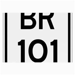 Brazil BR-101 Transcoastal Highway  Large Glasses Cloth
