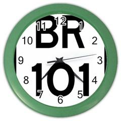 Brazil BR-101 Transcoastal Highway  Color Wall Clocks