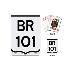 Brazil Br 101 Transcoastal Highway  Playing Cards (mini)