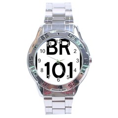 Brazil BR-101 Transcoastal Highway  Stainless Steel Analogue Watch