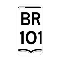 Brazil BR-101 Transcoastal Highway  Apple iPhone 4 Case (White)
