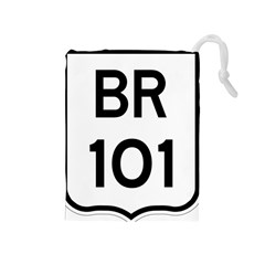 Brazil BR-101 Transcoastal Highway  Drawstring Pouches (Medium)
