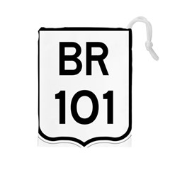 Brazil BR-101 Transcoastal Highway  Drawstring Pouches (Large)