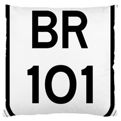 Brazil BR-101 Transcoastal Highway  Large Flano Cushion Case (One Side)