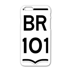 Brazil BR-101 Transcoastal Highway  Apple iPhone 6/6S White Enamel Case