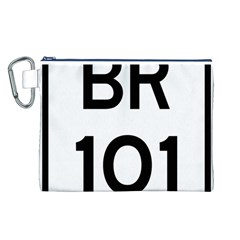 Brazil BR-101 Transcoastal Highway  Canvas Cosmetic Bag (L)