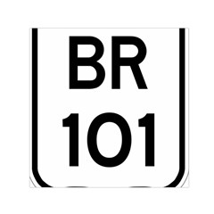 Brazil BR-101 Transcoastal Highway  Small Satin Scarf (Square)