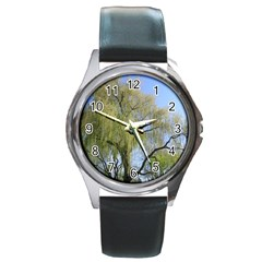 Willow Tree Round Metal Watch