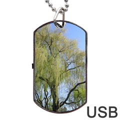 Willow Tree Dog Tag USB Flash (Two Sides)