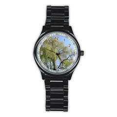 Willow Tree Stainless Steel Round Watch