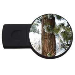Winter Tree At Bogus Basin USB Flash Drive Round (2 GB)